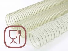 Industrial hoses for the food industry