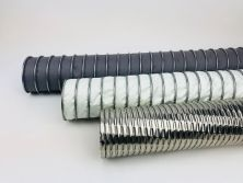 Exhaust gas hose, hot gases and hot air hose