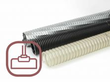 Suction hoses for industrial vacuum cleaners