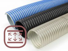 Reinforced suction hoses in pneumatic systems